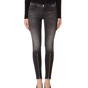 J Brand Mid Rise Maria Y Black Heather Skinny Jean